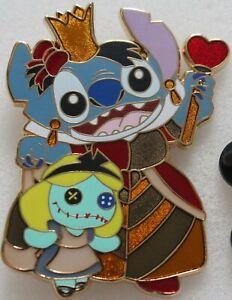 STITCH-amp-SCRUMP-Queen-of-Hearts-Alice-In-Wonderland-Disney-Fantasy-Large-Pin-NEW