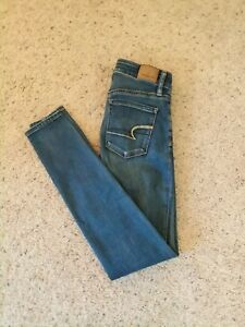 American-Eagle-Outfitters-Womens-Jeans-Size-0-Hi-Rise-Jegging-Super-Stretch-X