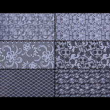 20 Blatt Weiß Spitze Starry Nagelfolie Nail Folie Nail Art Stickers Maniküre DIY