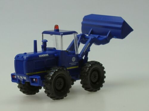 blu 0651 09-1:87 Wiking Hanomag cantiere THW strisce giallo