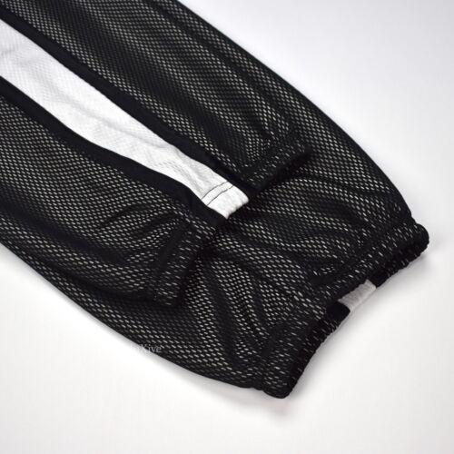 NWT Supreme NY Mens Black Side Stripe Mesh Arc Logo Track Pants L SS18 AUTHENTIC