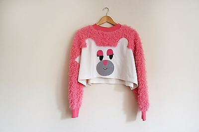 LAZY OAF BEAR FACE CROP SWEATER BNWT ONE SIZE OVERSIZE RARE
