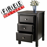 Night Stand Contemporary Bedroom Black End Table Tv Furniture Storage Organizer