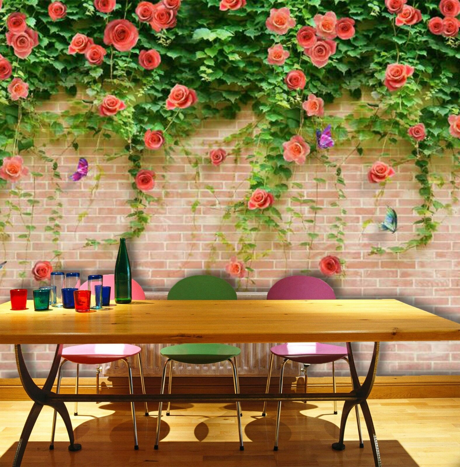 3D Wall flowers Grün 355 Wall Paper Wall Print Decal Wall Indoor Murals Wall US