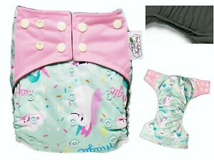 1X//Pack 5 Layers Bamboo Fiber Charcoal Washable Cloth Diaper Nappies Inserts、Pop