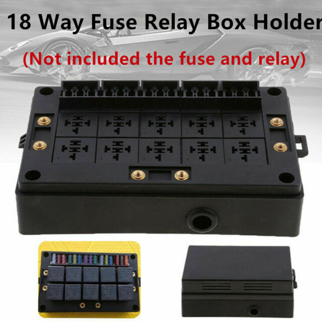 car marine 18 way fuse holder 10 relay box circuit protector distribution  block for sale online | ebay  ebay