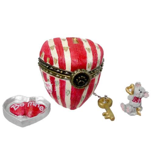 BOYDS BEAR TREASURE BOX CUPIDS HEART BOX  #82087 RETIRED NWT!!