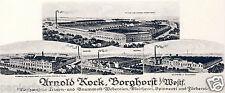 Weberei Kock Borghorst Reklame & Historie 1925 Bleicherei Spinnerei Haltern