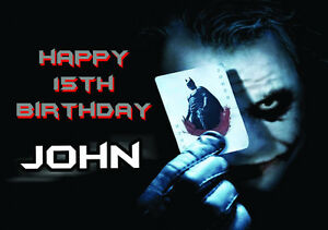 Personalised batman the joker birthday greeting card a5 ebay image is loading personalised batman the joker birthday greeting card a5 m4hsunfo