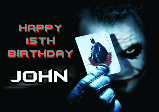Joker Themed Birthday Cards Collection On Ebay