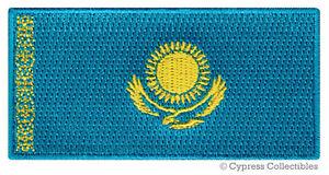KAZAKHSTAN-FLAG-embroidered-iron-on-PATCH-KAZAK-EMBLEM-applique-NATIONAL-EMBLEM