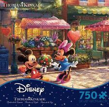 THOMAS KINKADE DISNEY DREAMS PUZZLE MICKEY AND MINNIE SWEETHEART CAFE 750 PCS