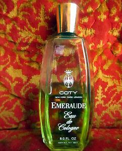 Vintage-Emeraude-Coty-Eau-De-Cologne-8-Oz-Splash-Brand-Rare-70-FULL