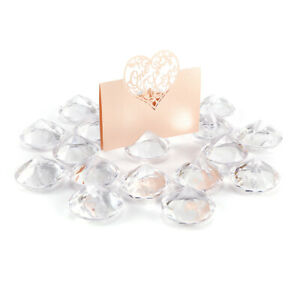 20x-Diamond-Effect-Wedding-Table-Name-Place-Card-Holders-Favours-Events