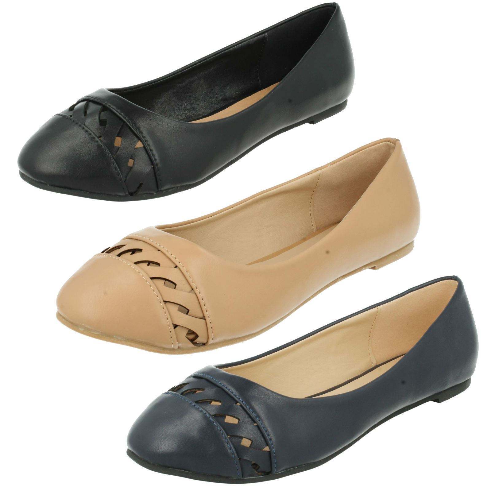 Mujer f80231 Sin Cordones Zapatos Planos Bailarina de Anne Michelle