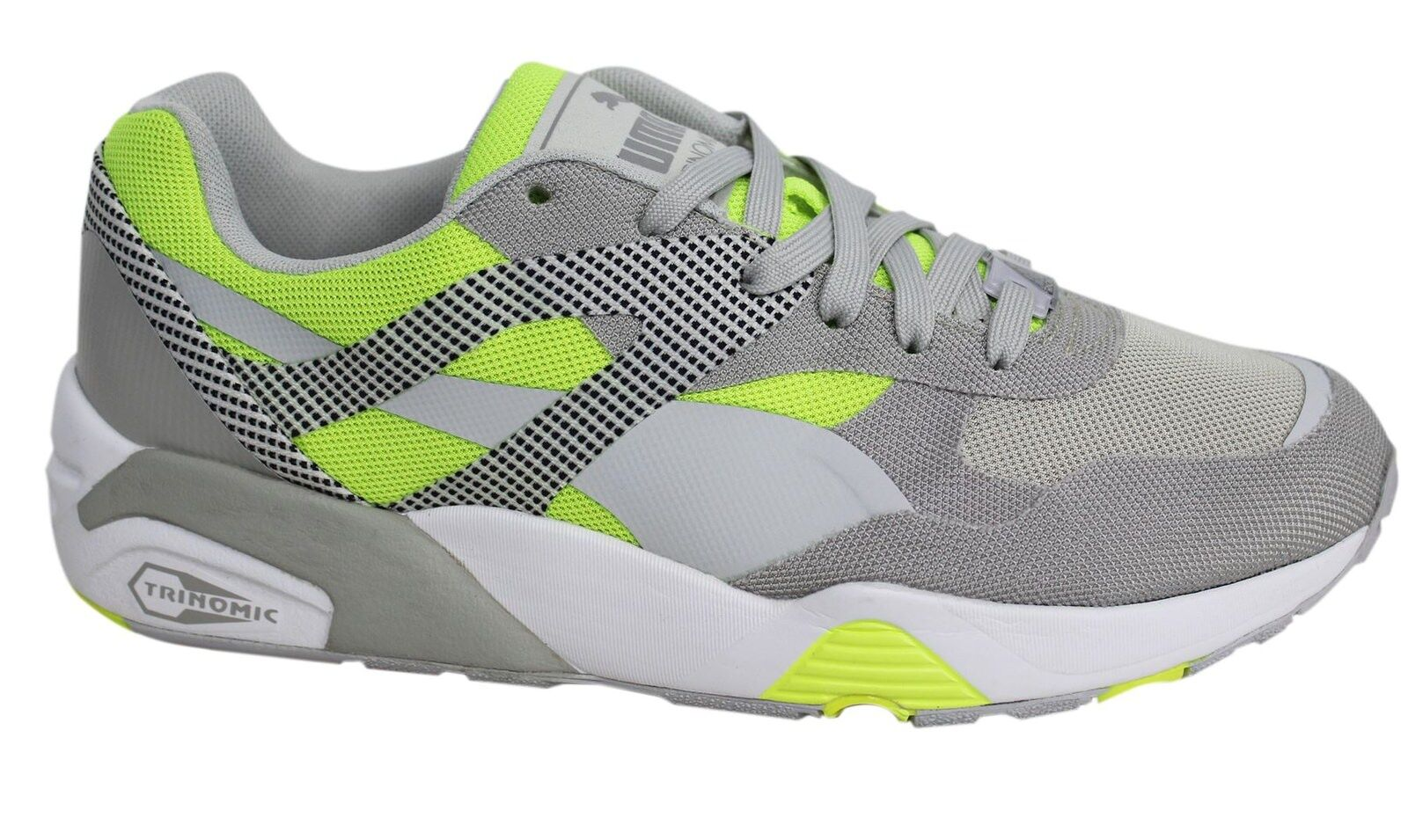 Puma R698 Progressive Lace Up Grau Yellow  P5 Uomo Trainers 362046 02 P5  630f96