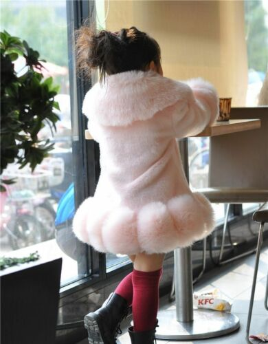 Winter Fur Coat For Girls Fashionable Casual Worsted Outerwear Children Clothing