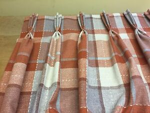 Image Is Loading Next Woven Check Rustic Ginger Tartan Lined Pinch