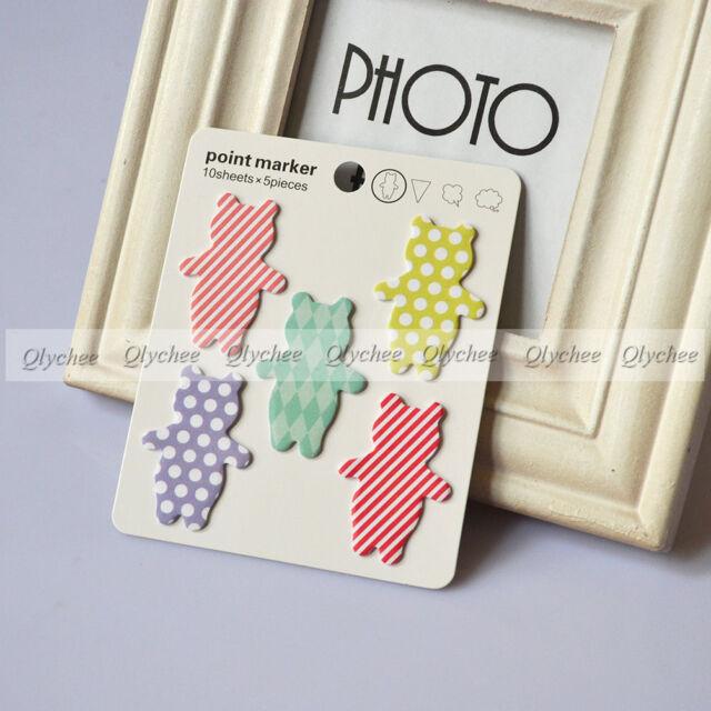 Random Korean Stationery Point Marker Self Stick Sticker Memo Pad Sticky Notes