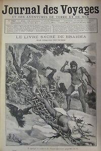 Zeitung-der-Voyages-Nr-842-von-1893-Indien-Buch-Kroenung-Brahma-Tippoo-Djimoun