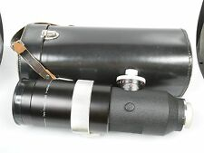 Zeiss Contarex Tele-Tessar 5,6/400 mm 400mm 1:5,6 leicht modifiziert mit Lederkö
