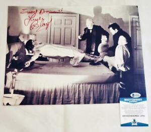 LINDA-BLAIR-REGAN-SIGNED-METALLIC-11X14-PHOTO-THE-EXORCIST-BECKETT-COA-501