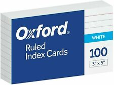Oxford Ruled Index Cards 3 X 5 White 100 Per Pack 40153 Sp New Fast Shipping
