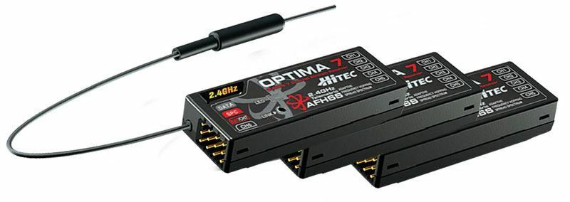 Hitec RCD-Optima 7 - 7 canal 2.4ghz receptor (Triple Pack)