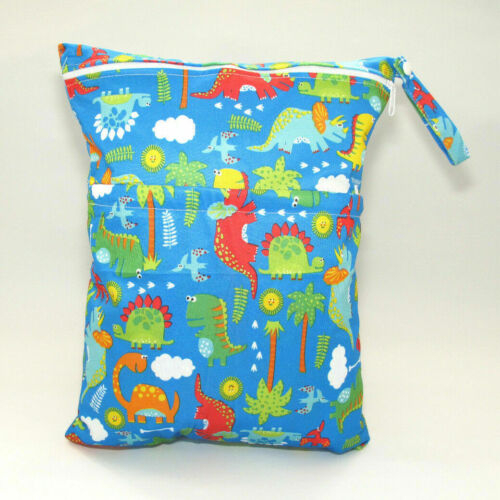 Large Cloth Mama Wet Bag for Nappies Wipes Dinosaurs Cloth Sanitary Pads