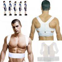 Magnet Posture Back Shoulder Corrector Support Brace Belt Therapy Adjustable