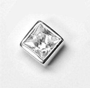 Echt 925 Silber Männer Ohrstecker 1 Stück in 4 mm mit Zirkonia schwarz in 3 mm