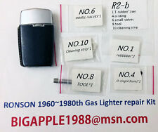 Ronson 1960~1980th Vintage Gas Lighter repair Kit R2-b Free Youtube DIY Video 15