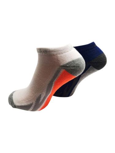Da Uomo Suola Imbottita alla caviglia Trainer Liner Calze Sportive con imbottitura comfort 2057o