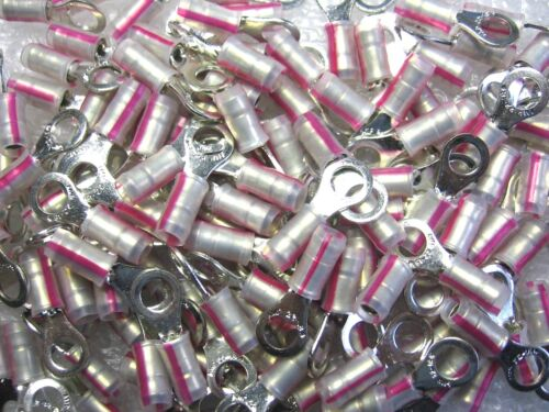 500 AMP Tyco 53409-1 Insulated Ring Tongue Terminals #22-16 AWG #10 Stud Tab