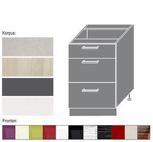 Details zu Küchenunterschrank Küchenschrank zu Küchenzeile mit Schubladen  60cm (PN-D3M/60)