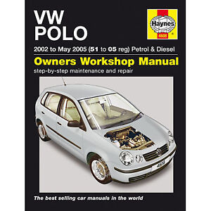 haynes vw polo 2002 to may 2005 51 to 05 reg perol and diesel rh ebay co uk workshop manual vw polo 2002 1999 VW Polo