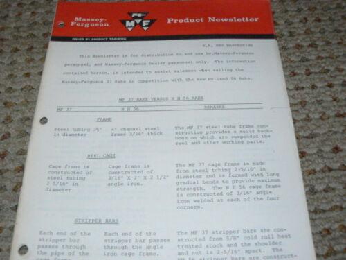 Massey Ferguson 37 Rake Vs NH 56 Rake Product News Letter
