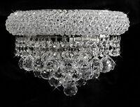 Over Stock Sale Bangl 12 Crystal Wall Light Chorme Fixture -precio Mayorista