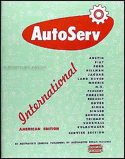 AutoServ Repair Shop Manual Triumph TR2 TR3 Herald and Simca Aronde 1953-1960