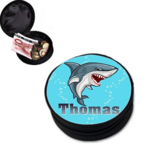 Porte monnaie Requin personnalisé avec prénom