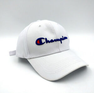 Champion Hip Hop Hat Sport Mens Womens Baseball Cap Snapback Embroidery UK NEW