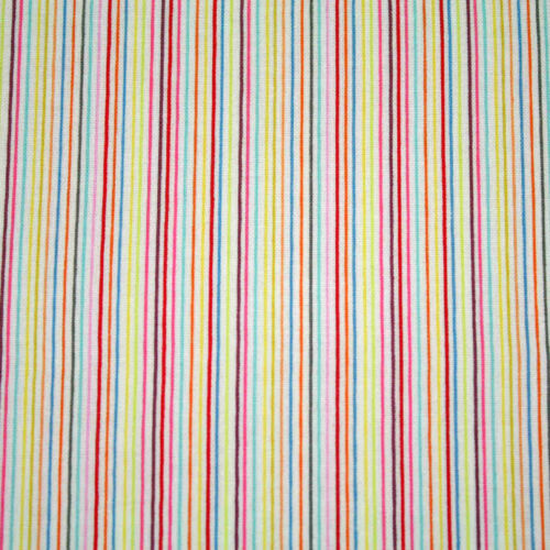 Designer Striped 100/% Cotton Quilting Bunting Fabric per FQ Half or Meter