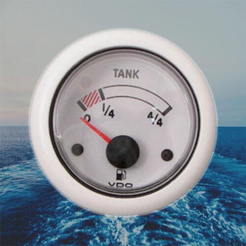 "VDO Ocean Line Fuel Level Marine Gauge Boat 52mm 2/"" 24V White N02-222-702"