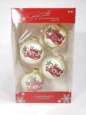 "Krebs Glass Frosted Gold Christmas Ball Ornaments 8 Pack NIB 2 5//8/"" Diameter NEW"