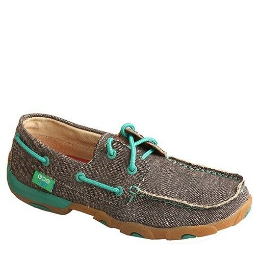 Twisted X Ladies Dust & Teal ECO Recycled Driving Moccasins WDM0085