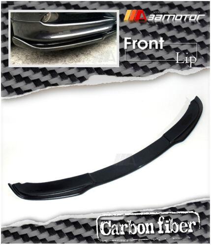 Carbon Fiber Front Bumper Lip Spoiler for 2005-2008 BMW E90 E91 3-Series Pre-LCI