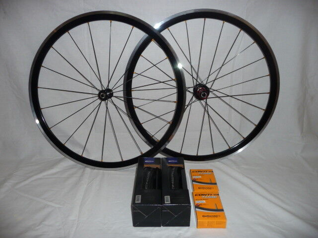 Kinlin XR300 650c lightweight wheels with Schwalbe Conti tyre tube bundle