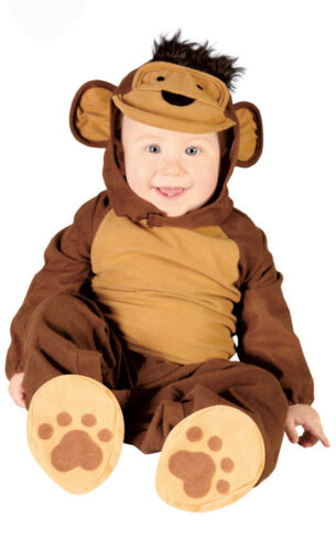 Baby Toddler Monkey Costume Kids Fancy Dress Outfit Age 6-12 /& 12-24 Months NEW
