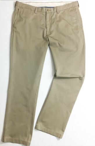 Polo Ralph Lauren Men/'s Chinos Hudson Tan Classic Fit Stonewashed Twill Trousers
