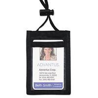 Advantus Id Badge Holder W/convention Neck Pouch Vertical 2 1/4 X 3 1/2 Black 12 on sale